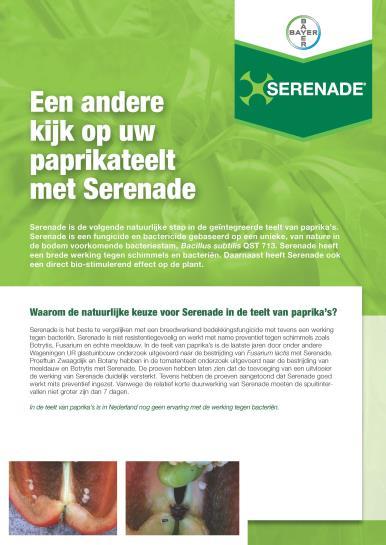 Serenade paprika leaflet