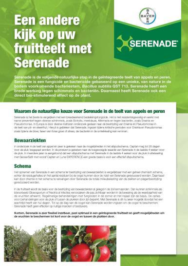 Serenade leaflet fruitteelt