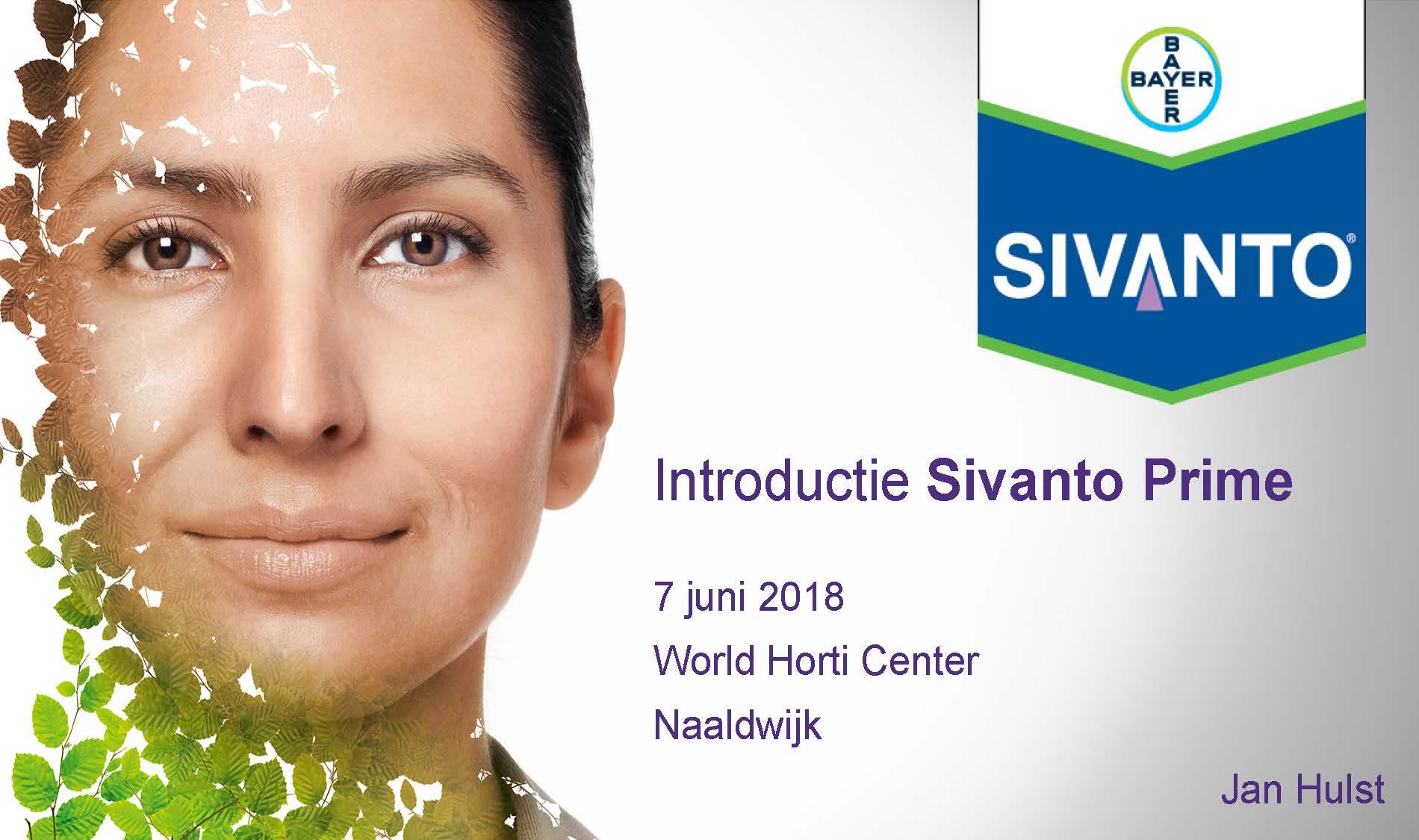 Handout introductielezing Sivanto Prime