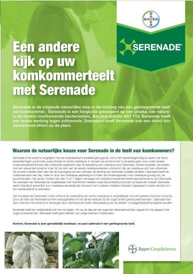Serenade komkommer leaflet